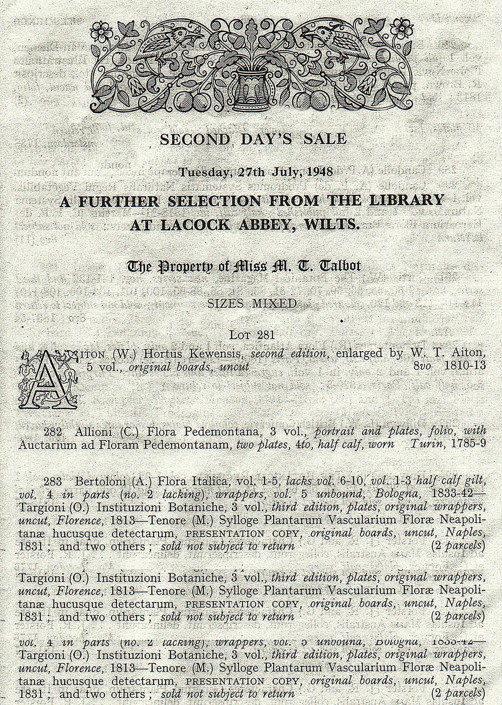 sale-sotheby-27july1948